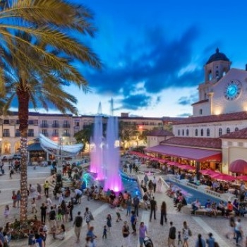 Cityplace dining and shopping center located directly across Okeechobee Blvd